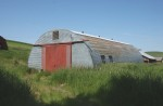 Quonset hut used as a barn, Whitman County